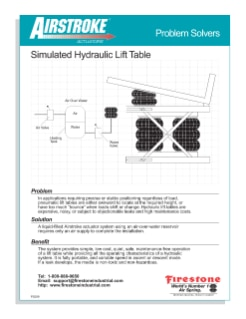 Simulated Hydraulic Lift Table