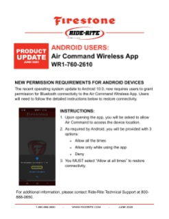 Aplicativo para dispositivo móvel do Air Command – Android