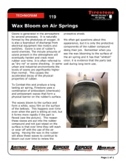 119 How does Firestone protect their rubber products against ozone?